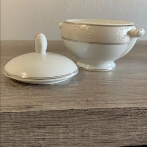 Never Used Mikasa Parchment Sugar Bowl